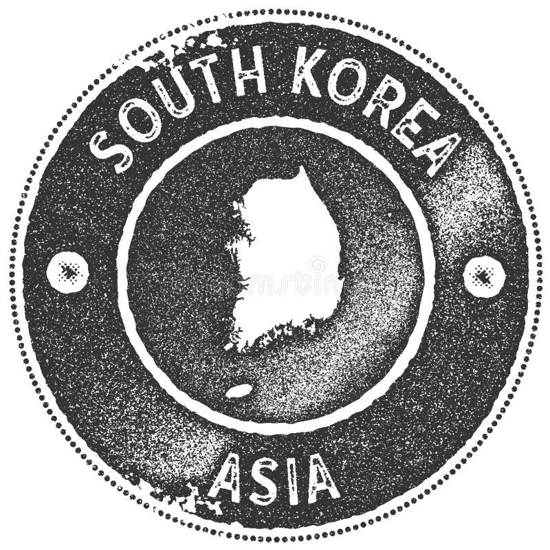 Stämpel för Sydkorea översiktstappning vektor illustrationer