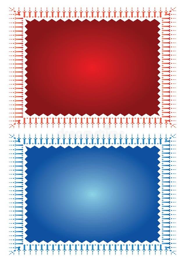stämpelmallvektor royaltyfri illustrationer