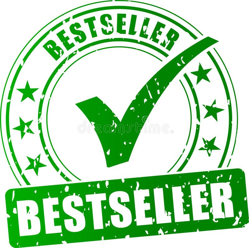 Stämpelsymbol för bästa säljare stock illustrationer