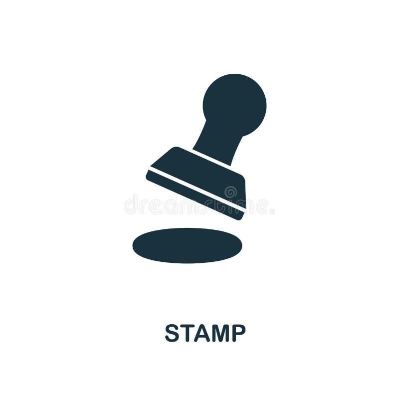 Stämpelsymbol Linje stilsymbolsdesign från symbolssamling för personlig finans Ui Pictogram av stämpelsymbolen Ordna till för att stock illustrationer