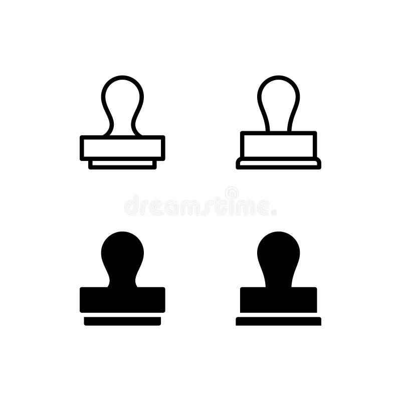 Stämpelsymbol Logo Vector Symbol Isolated på vit bakgrund royaltyfri illustrationer