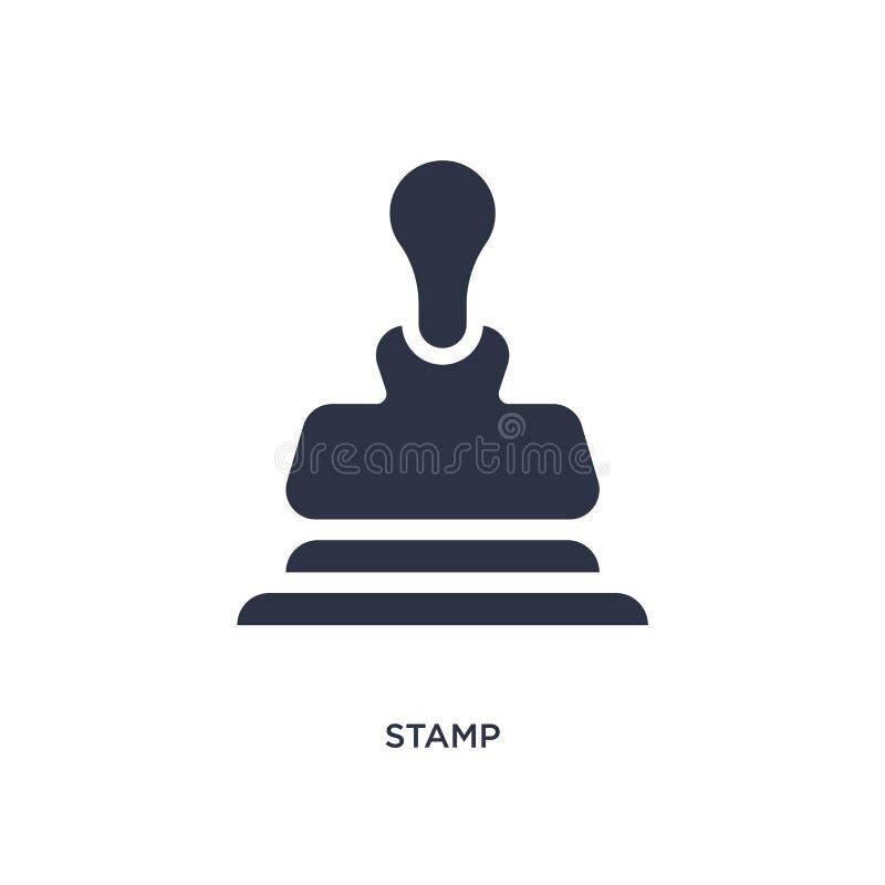 Stämpelsymbol på vit bakgrund Enkel beståndsdelillustration från kundtjänstbegrepp royaltyfri illustrationer