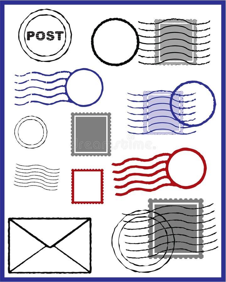 stämpelvektor vektor illustrationer