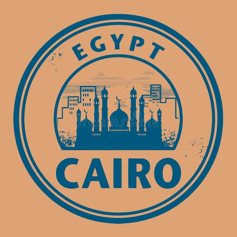 Stämpla eller etiketten med textKairo, Egypten vektor illustrationer