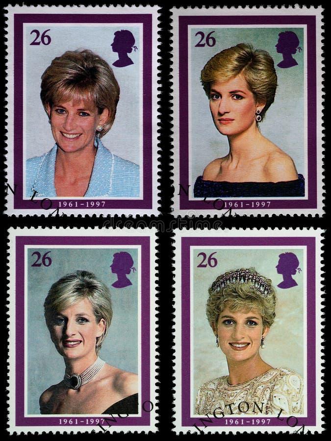 stämplar för diana portoprincess royaltyfri foto