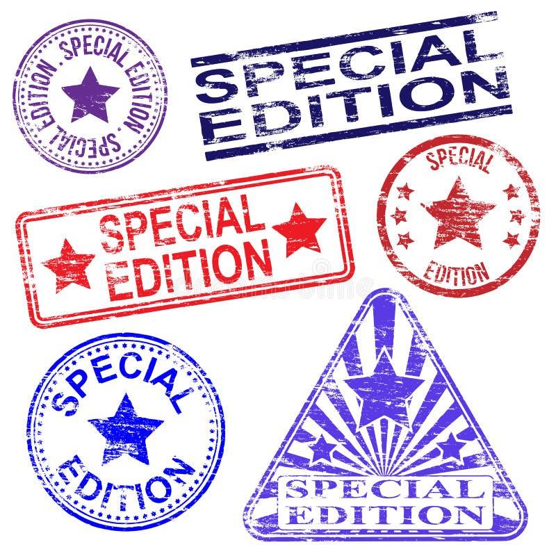 Stämplar för special upplaga vektor illustrationer