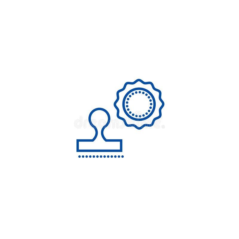 Stämplar fodrar symbolsbegrepp Plant vektorsymbol för stämplar, tecken, översiktsillustration royaltyfri illustrationer