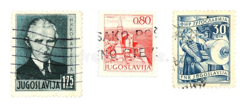 stämplar yugoslavia royaltyfri foto