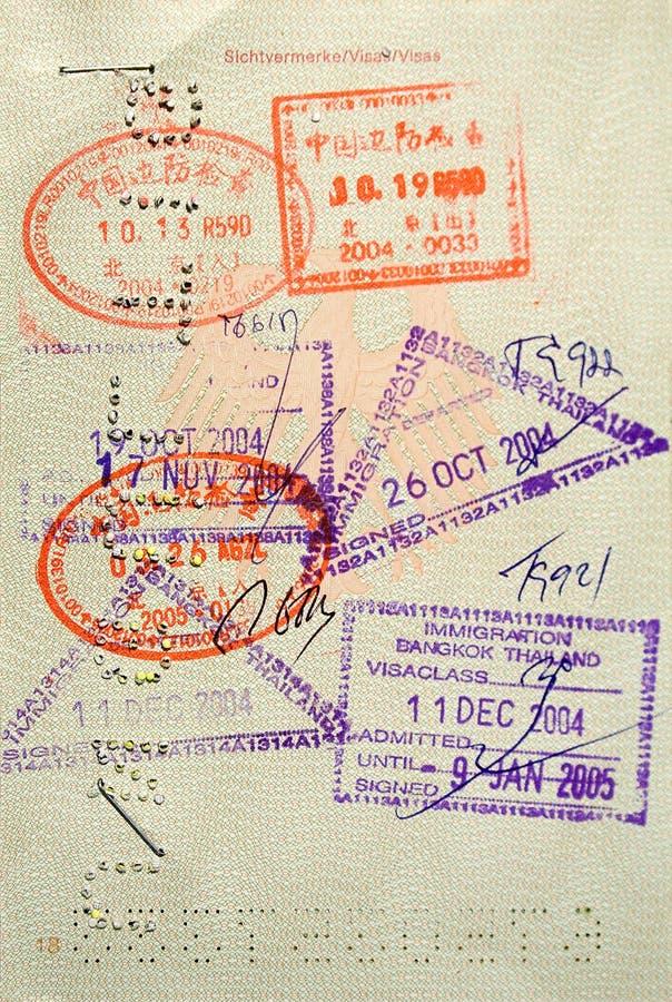 stämplat pass arkivbilder