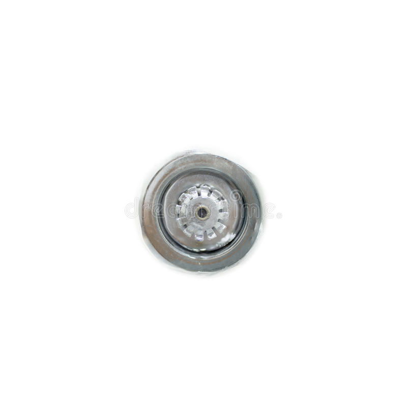 stäng det planlagda för livstidsdelen för brand bilden integrerade systemet för sprinklers för sprinkleren för säkerhet leda i rö arkivbild