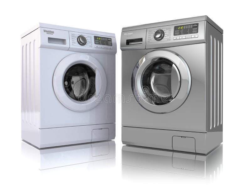 stäng maskinen som skjutas upp tvätt royaltyfri illustrationer