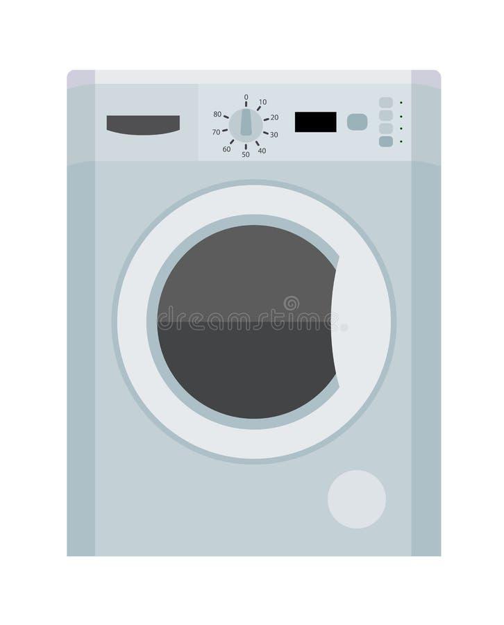 stäng maskinen som skjutas upp tvätt vektor illustrationer