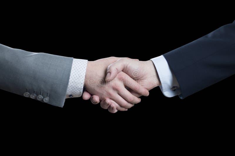 Stäng sig upp av affärsmanhandskakningen - partnerskap, negotioation royaltyfri fotografi