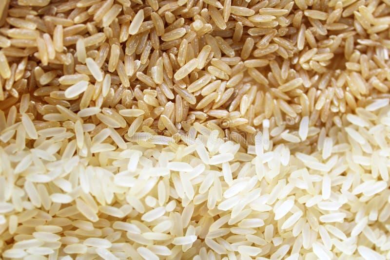 Stäng sig upp av artiklar, som är nödvändiga i vardagsliv, och som handlas på aktiemarknaden, sådan artikel som ris arkivfoton