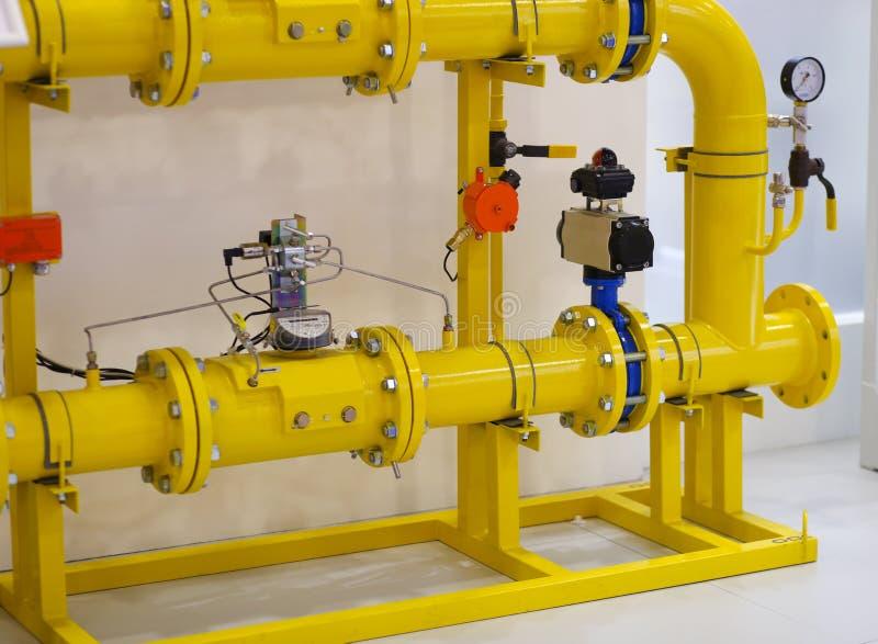 Stäng sig upp av barometern i naturgasproduktionbransch royaltyfri fotografi