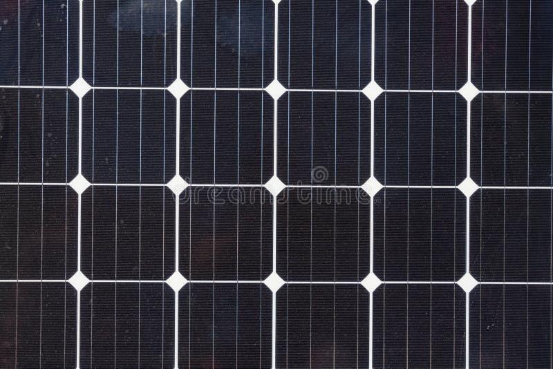 Stäng sig upp av den sol- cellen - photovoltaic enheter för förnybara energikällor arkivfoto