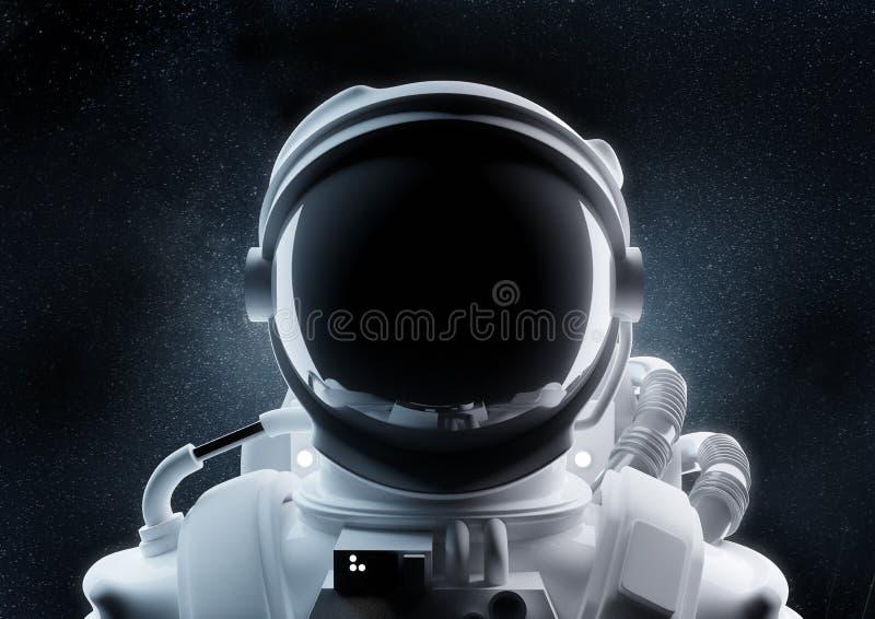 Stäng sig upp av en astronaut Helmet royaltyfri illustrationer