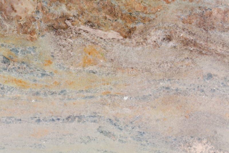 Stäng sig upp av högkvalitativ brun, blå orange marmortextur arkivfoton