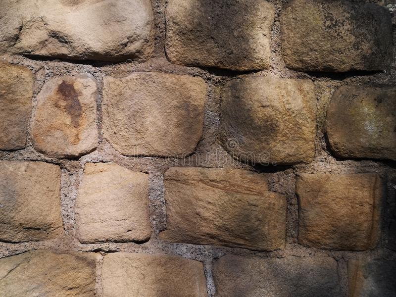 Stäng sig upp av slottväggen arkivfoton