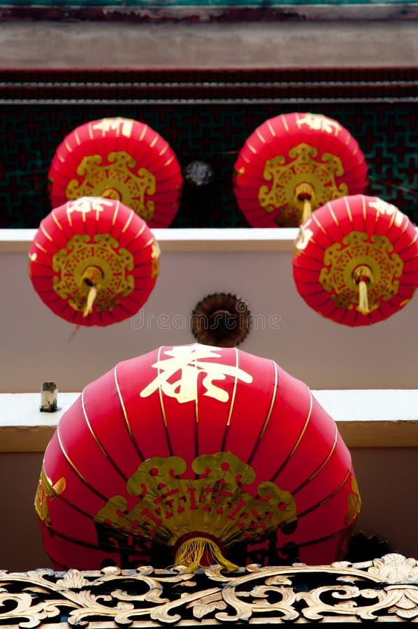 Stäng sig upp den kinesiska lyktan arkivfoton