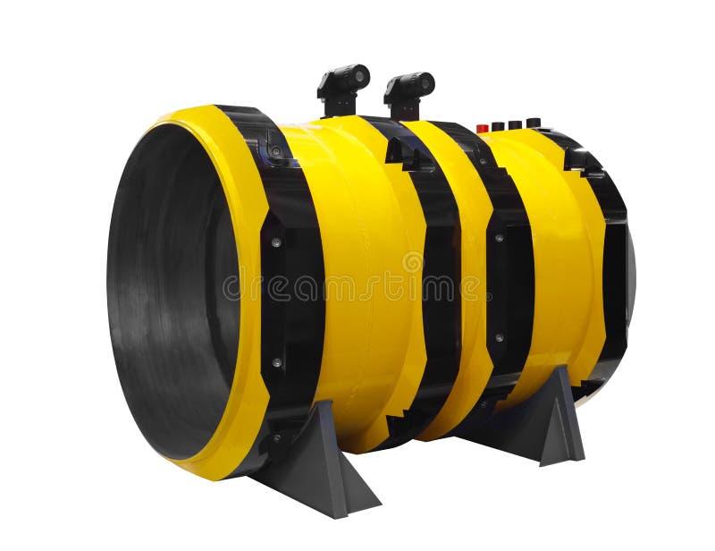 Stäng sig upp detaljtvärsnittimpelleren inom av den elektriska centrifugala pumpen eller blåsaren för industriellt arkivfoto