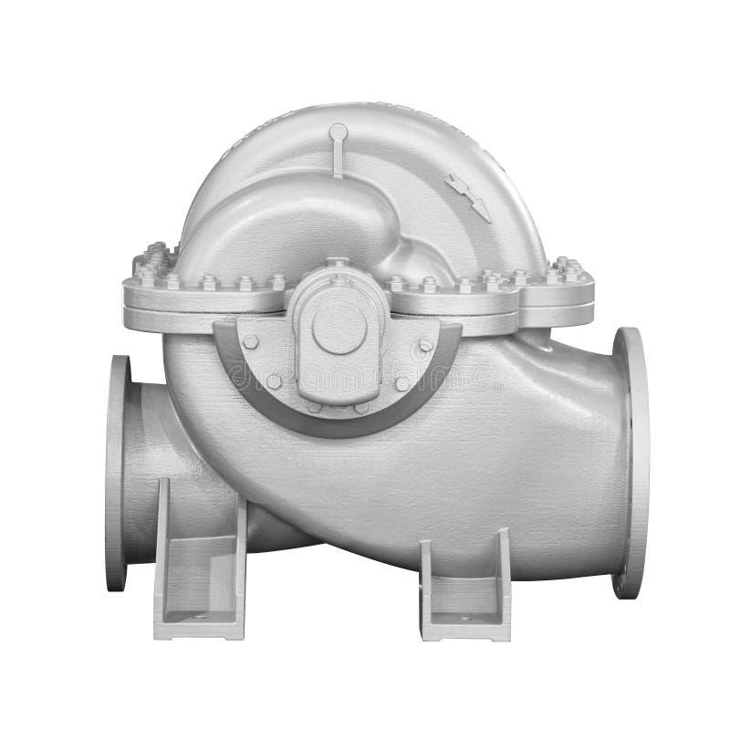 Stäng sig upp detaljtvärsnittimpelleren inom av den elektriska centrifugala pumpen eller blåsaren för industriellt arkivbild