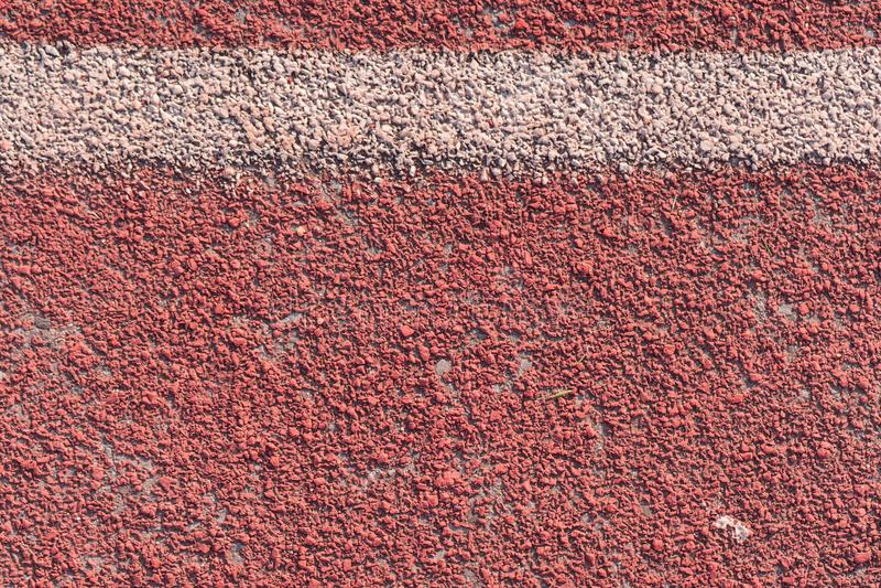 Stäng sig upp rinnande spår i stadion för sport arkivbild