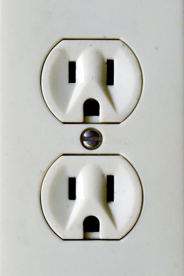 stäng upp elektriska uttag royaltyfria foton