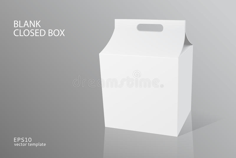 Stängd ask för tomt emballage vektor illustrationer