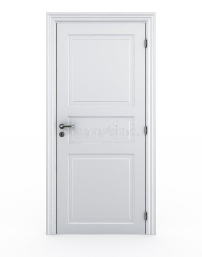 stängd dörr vektor illustrationer