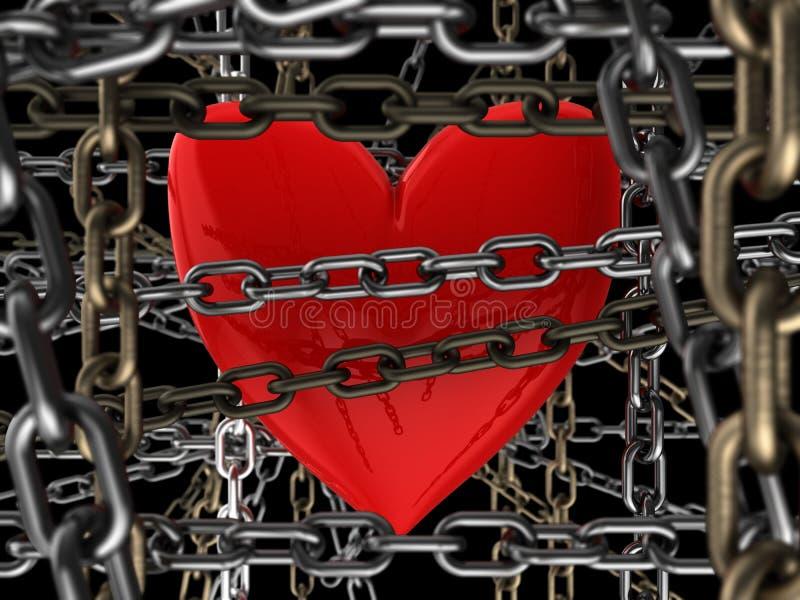 Stängd hjärta royaltyfri illustrationer