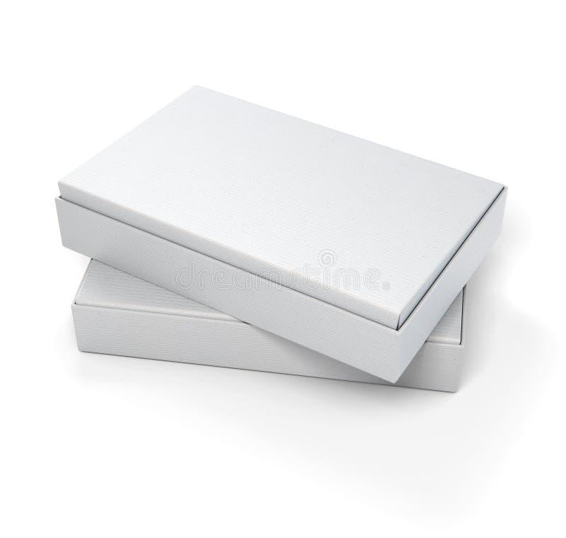 Stängd modell för pappers- askar 3d för emballage royaltyfri illustrationer