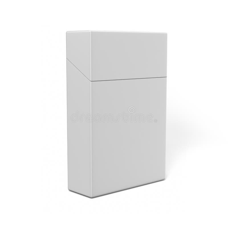 Stängd packe av cigaretter som isoleras på en vit bakgrund för åtlöje upp och tryckdesign illustrationen 3d framför vektor illustrationer