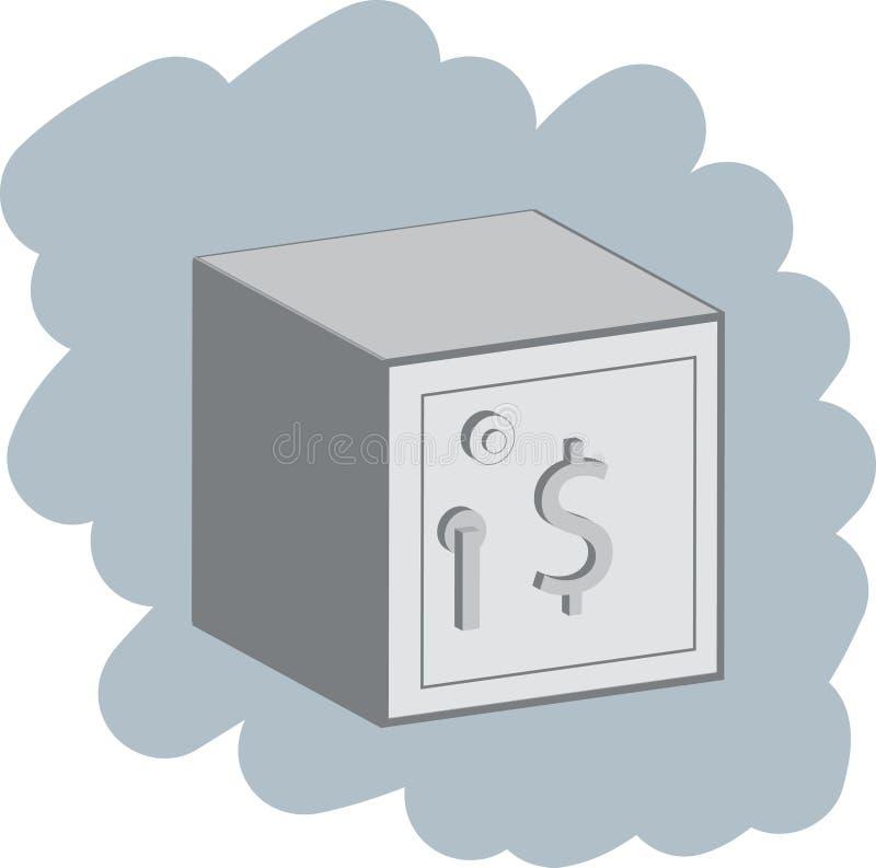 stängd safe vektor illustrationer