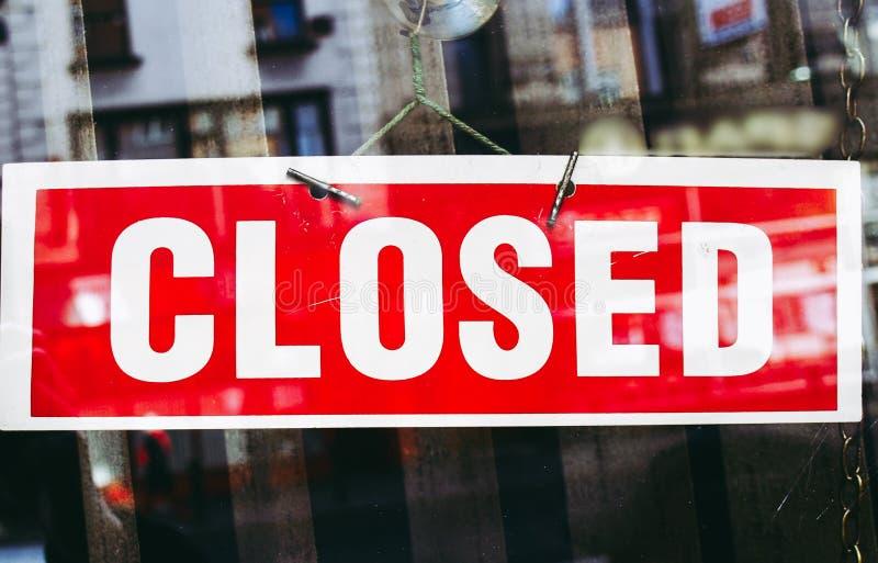 Stängd skylt fotografering för bildbyråer