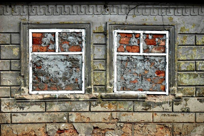 stängda fönster arkivfoto