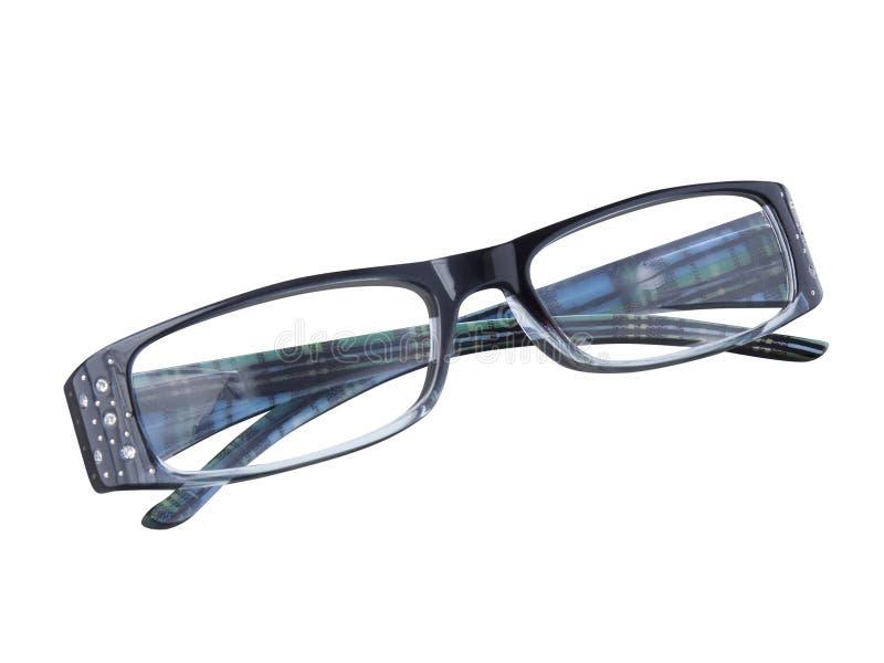 Stängda isolerade glasögonanblickar royaltyfria foton