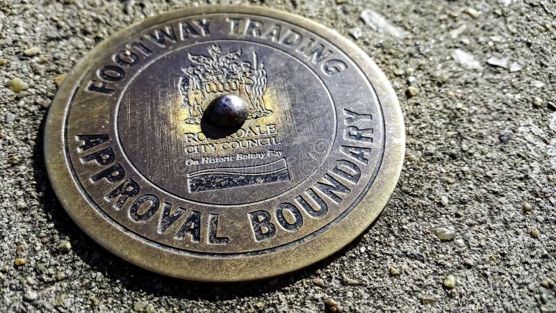 Stängning av ett passerkort för godkännande av gräns för fotvägstrafik royaltyfria bilder