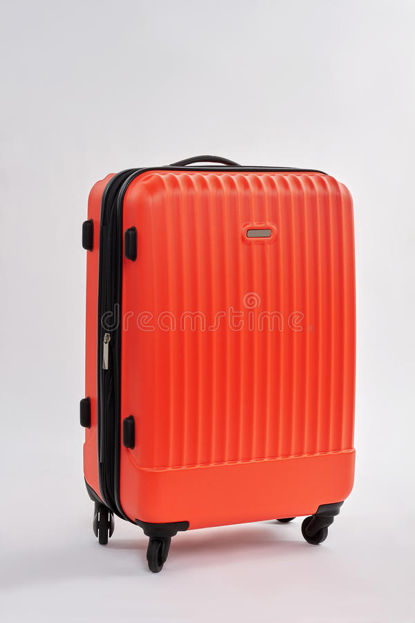 Stängt fall med isolerat bagage royaltyfri foto