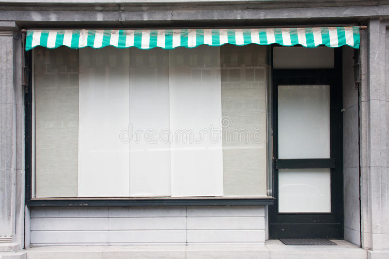 Stängt shoppa arkivfoton