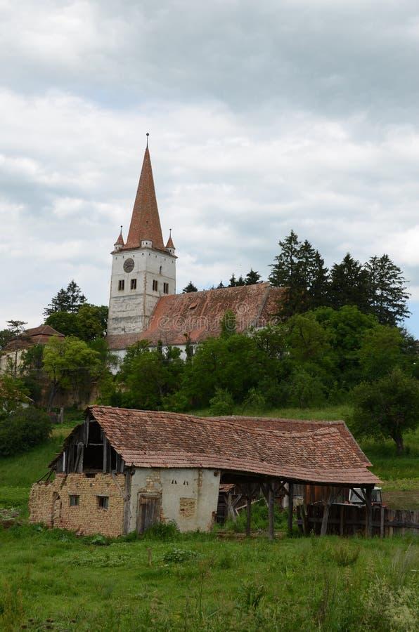 Stärkt kyrka royaltyfria bilder