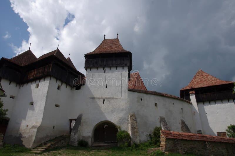 Stärkt kyrka av Viscri arkivfoton