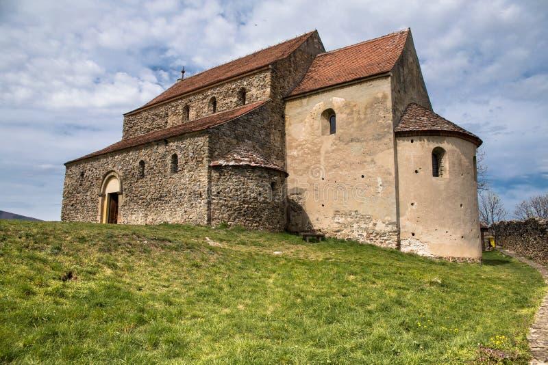 Stärkt kyrka i Cisnadioara royaltyfria foton
