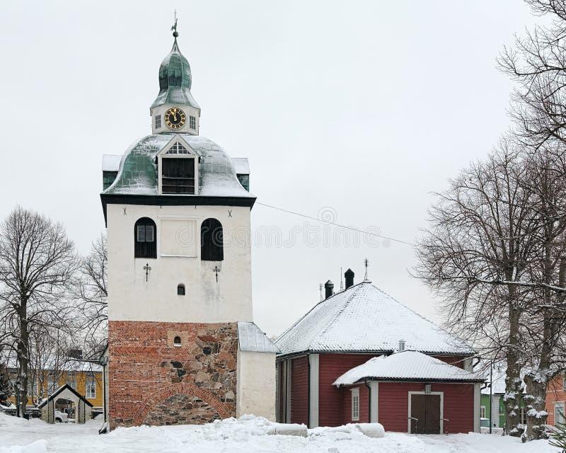 Stå hög av den Porvoo domkyrkan, Finland royaltyfri bild