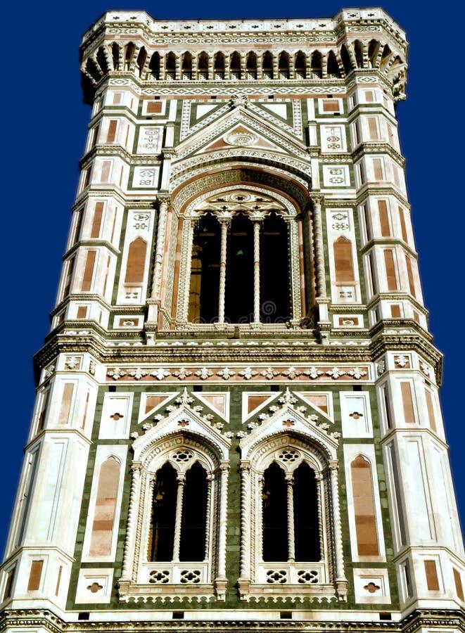 Stå hög av domkyrkan i florence, italy arkivfoto