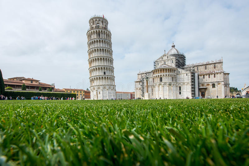 Stå hög av Pisa, Italien arkivbild