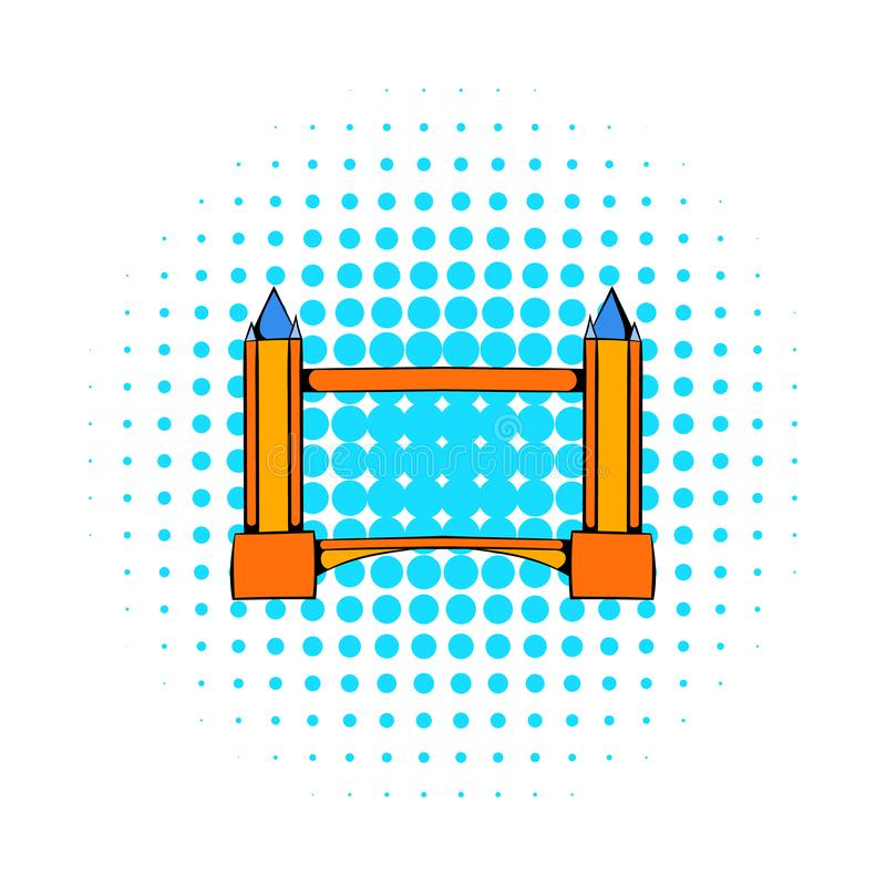 Stå högt bron i den London symbolen, komiker utformar royaltyfri illustrationer