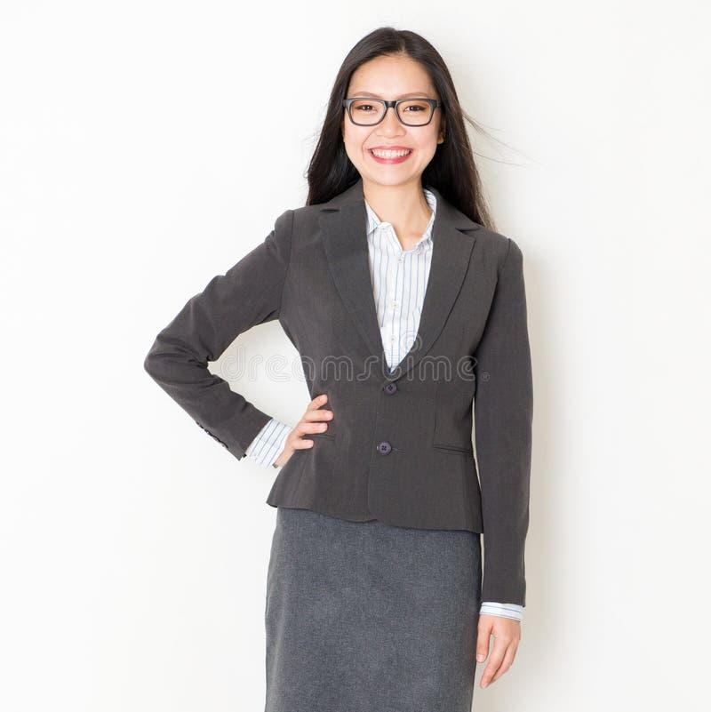 Stående av asiatiskt affärsfolk royaltyfri bild
