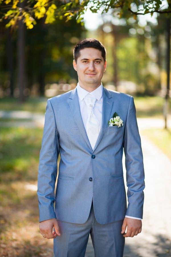 Stående av brudgummen fotografering för bildbyråer