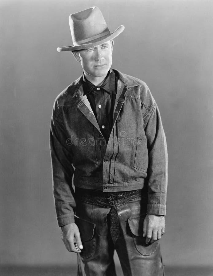 Stående av cowboyen arkivbild